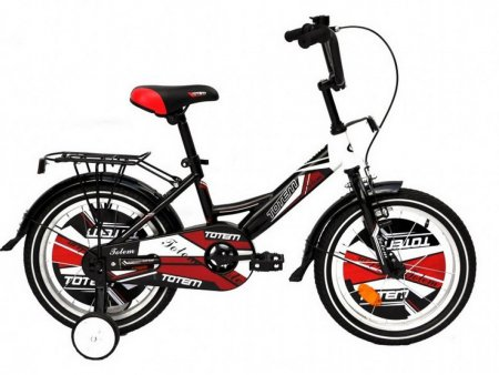ВЕЛОСИПЕД TOTEM 18 BMX-KID ST ACTIVE черно-красный