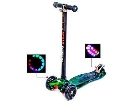 Cамокат MAXI H20 Светящиеся колеса