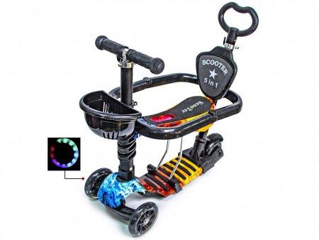 Самокат Scooter Scale Sports 5 в 1 с поручнями