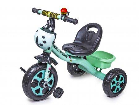 Трехколесный велосипед Scale Sport Бирюзовый