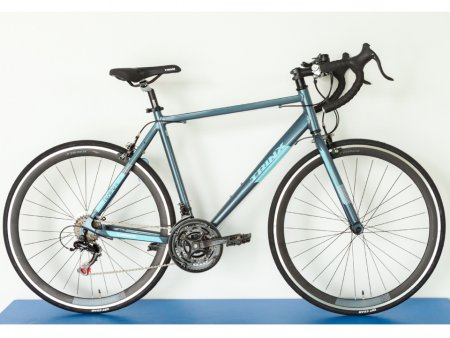 Велосипед Trinx TEMPO 1.0 700C × 500 мм gray-blue-white 2021