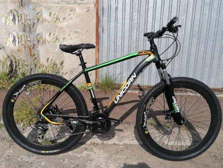 Велосипед 27.5 дюймов Unicorn Migeer черный с зеленым