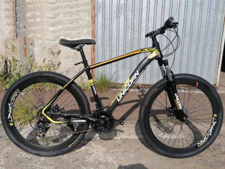 Велосипед 27.5 дюймов Unicorn Migeer черный с желтым