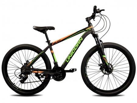 Велосипед 27.5 дюймов Unicorn Pilot черный с зеленым