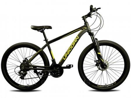 Велосипед 27.5 дюймов Unicorn Pilot черный с желтым