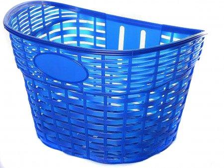 Корзина на руль для детского велосипеда плетеная синяя