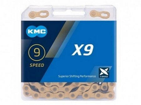 Цепь KMC 9SP X9 СЕРЕБРИСТАЯ 1/2X11/128X116L